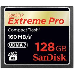 Karta pamięci SanDisk Compact Flash Extreme 128GB (CF) 160MB/s 1067x