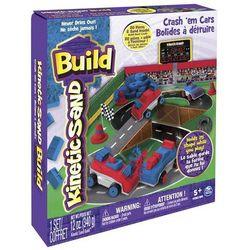 Spin Master, Kinetic Sand Build, Samochody Zderzaki, zestaw konstrukcyjny, 340 g Darmowa dostawa do sklepów SMYK