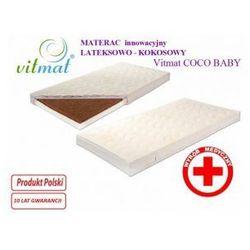 Materac innowacyjny lateksowo - kokosowy Vitmat COCO Baby 140x70 Antyalergic