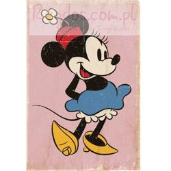 Myszka Miki Minnie Mouse Retro - plakat