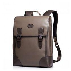 Skórzana męska torba podróżna Khaki - Sammons