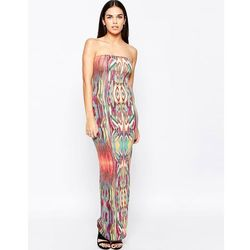 Club L Essentials Tube Maxi Dress in Tribal Print - Multi