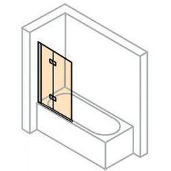 Parawan nawannowy Huppe Design Pure - 2-częściowy lewy 100 cm, profil srebrny mat, szkło przeźroczyste 8P2301.087.321