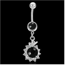 piercing 316L PLJ230BA - Silver/Black
