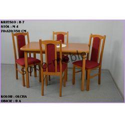 ZESTAW AREK 4 KRZESŁA B 7 + STÓŁ M 4 70x120/150 CM
