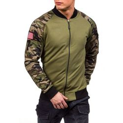 Moro-zielona bluza męska bez kaptura Denley 0443
