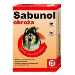 Sabunol obroża dla psa przeciw pchłom i kleszczom czerwona 75cm