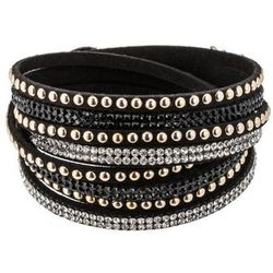 sweet deluxe WANDA Bransoletka black/crystal/goldcolored