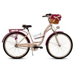Rower miejski 28' Orlando Kozbike 3 biegi AMORTYZATOR + kosz wiklina średni z rączką + wkładka WZ79