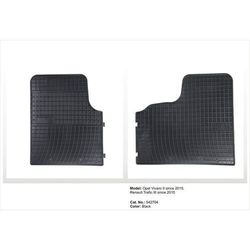 Dywaniki gumowe czarne z kompletem stoperów - Opel Vivaro (II) od 2015