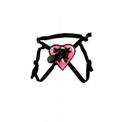 "Proteza-Fetish Fantasy Series 7"""""""" Heart Strap-on ~ Pink & Black"