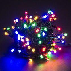Lampki na choinkę, kolorowe, 80 LED