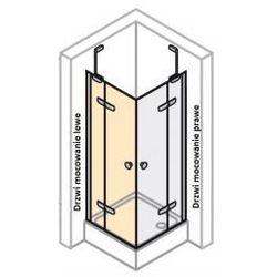 Drzwi skrzydłowe lewe do ścianki bocznej Huppe Enjoy ELEGANCE 120 cm,montaż na brodziku, profil srebrny mat, szkło przeźroczyste 3T0105.087.321