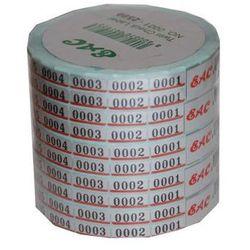 Taśma z numerkami metalizowana 2500szt.