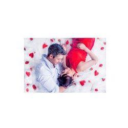 Foto naklejka samoprzylepna 100 x 100 cm - Leży para miłość