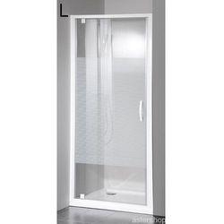 ETERNO drzwi prysznicowe do wnęki 80cm szkło STRIP GE6680