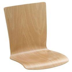 Krzesło Z Siedziskiem Z Drewna Opak 2 Sztbuk Naturalny Prostokątne Z Obiciem