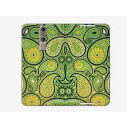 Flex Book Fantastic - ZTE Axon Mini - pokrowiec na telefon - zielone plamy