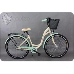 Goetze rower miejski 3B LTD + kosz biało-pistacjowy 18