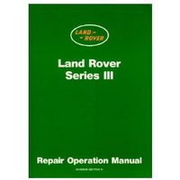 Land Rover Series 3 Workshop Manual