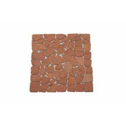 Mozaika marmurowa Garth na siatce czerwona/terakota 1m2