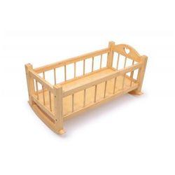Łóżeczko drewniane dla lalek Naturalne