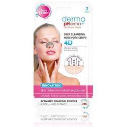Dermo Pharma Głęboko oczyszczające plastry na nos 4D 2szt.