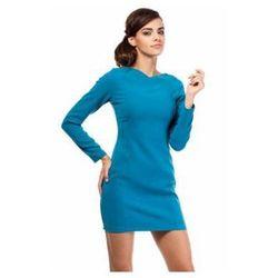 MOE187 Moe turkusowa sukienka mini