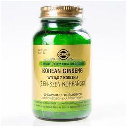 SOLGAR Żeńszeń koreański (Korean Ginseng) 60 Kapsułek