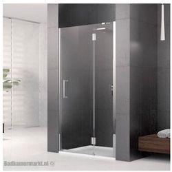 NOVELLINI LOUVRE G Drzwi wnękowe 80 prawe, profile chrom, szkło transparentne LOUVRG80LD-1K