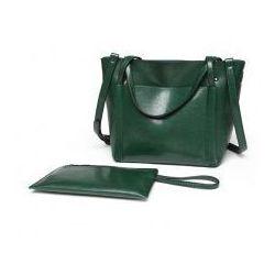 b93cc258b259d Klasyczna torba z ekoskóry premium - zielona
