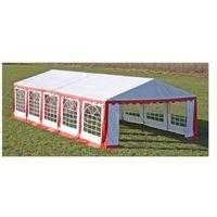 Pawilon ogrodowy 10x5m, czerwony Zapisz się do naszego Newslettera i odbierz voucher 20 PLN na zakupy w VidaXL!