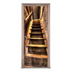 Naklejka na drzwi - Schody na strych 7245