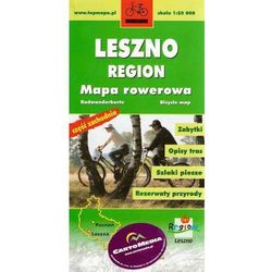 Leszno cześć zachodnia mapa rowerowa 1:55 000 CartoMedia