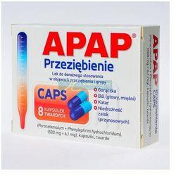 Apap Przeziębienie CAPS kaps.twarde 0,5g+6,1mg 8 kaps.