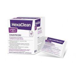 HEXACLEAN Chusteczki do specjalistycznej higieny i pielęgnacji brzegów powiek x 20 sztuk