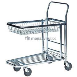 Wózek sklepowy, marketowy. Wym: 870x530x1010mm