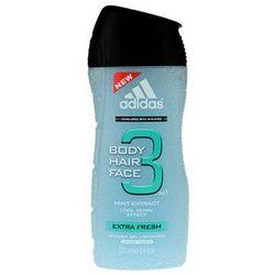 Adidas 3 Extra Fresh żel pod prysznic dla mężczyzn 250 ml + do każdego zamówienia upominek.