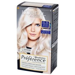 L'Oreal Paris Les Blondissimes Preference farba do wlosow 11.11 Bardzo Bardzo Jasny Chlodny Krysztalowy Blond