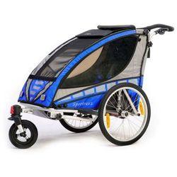 Qeridoo przyczepka rowerowa Sportrex 1 blue model 2016 - Gwarancja terminu lub 50 zł! - Bezpłatny odbiór osobisty: Wrocław, Warszawa, Katowice, Kraków