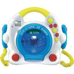 Odtwarzacz CD dla dzieci X4 Tech Bobby Joey, z funkcją karaoke i 2 mikrofonami