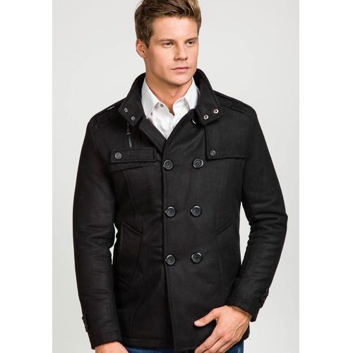 Płaszcz męski czarny Denley 8857 porównaj zanim kupisz