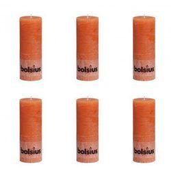 Świece Bolsius rustykalne x6 190x68 mm Pomarańcz Zapisz się do naszego Newslettera i odbierz voucher 20 PLN na zakupy w VidaXL!