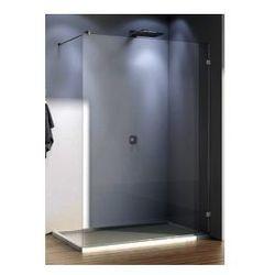 Ścianka wolno stojąca SanSwiss WALK-IN PUR szerokość 101 do 160 cm montaż bez profilowy prawy, chrom, szkło przeźroczyste PDT4DSM31007