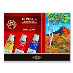 Farby akrylowe Koh-I-Noor 6kol. 16ml 162701