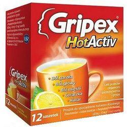 Gripex hotactiv x 12 sasz o smaku cytrynowym