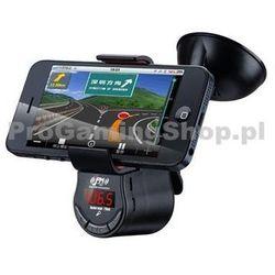Uchwyt samochodowy z ładowarką samochodową FM Transmitter dla Apple iPhone 4 i 4S