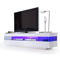 LIGA biała szafka RTV wysoki połysk