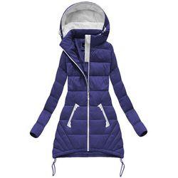 385e59422dbf1 kurtki damskie damo kurtki zimowe niebieski (od PIKOWANA KURTKA Z ...