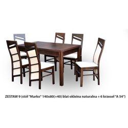 Zestaw Ares 9 Stół 80x140(+40) 6 krzeseł A54